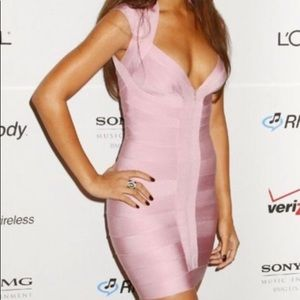 Dresses & Skirts - Pink bandage Bodycon dress